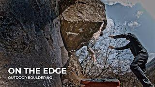 Bouldering Fight with The Edge Problem by Adam Ondra | Brno, Czechia