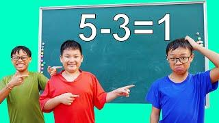 HCN Go School: Learn Color Numbers Test Math (❺ - ❸ = ② )   Best Learn Math & Numbers School Exam