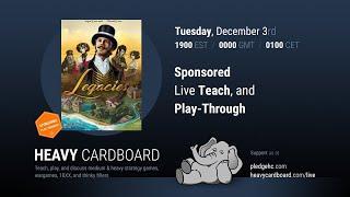 Legacies 4p Teaching & Play-through by Heavy Cardboard