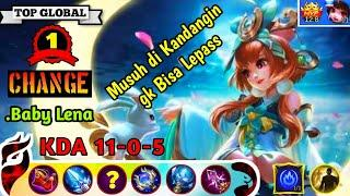 Amazing Gameplay No Recall No Death ! Change Top Global 1 2019, Build by .Baby Lena - Mobile Legend