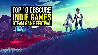 Steam Game Festival - TOP 10 BEST NEW OBSCURE Indie Games