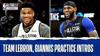 Team Giannis and Team LeBron All-Star Practice Introductions   2020 NBA All-Star