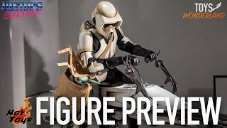 Hot Toys Mandalorian Scout Trooper & Speeder Bike - Figure Preview Episode 52