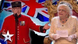 BEST OF BRITISH! Featuring THE QUEEN!   Britain's Got Talent