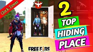 Top 2 Hiding Place In Clock Tower | Free Fire Hiding Places
