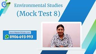 Mock Test 8   EVS   MCQ (Top 10 Questions) - WB Primary TET 2020   Master Of Jobs
