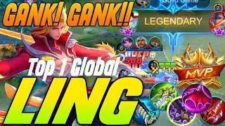 Fast Hand Ling, Deadly Skill Combo [ Top 1 Global Ling ]  - Mobile Legends Bang Bang