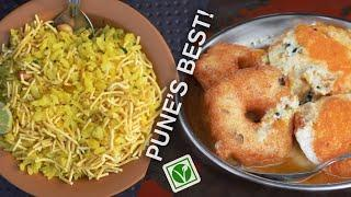Morning Street food in Pune, India (Vegan and Delicious) | MaddyKoko