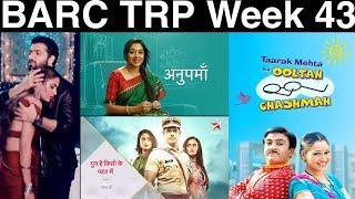 BARC TRP of Week 43   TV TRP of this Week   Top 10 SHOWS