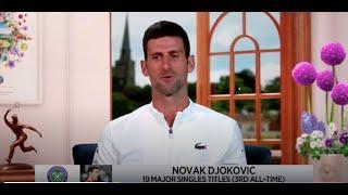 Novak Djokovic: 2021 Wimbledon Third round Win Interview