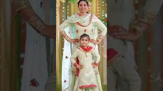 Mother daughter मा बेटी sharara dresses||mom daughter matching outfits