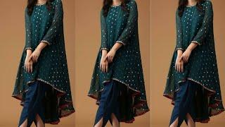 asymmetric hemline kurti designs || Up down kurti ideas || High low kurti designs 2020