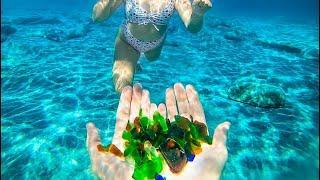 Found Seas Glass While Snorkeling in the Ocean! (Ocean Treasure)
