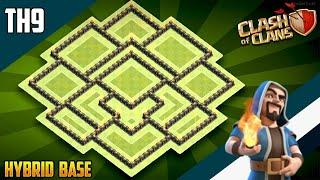 Top 10 best town hall level 9 bases (with links) | clash of clans