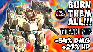 How Good Is It??? - Maxed Titan KID With Maxed MODULES - War Robots Maxed Gameplay WR