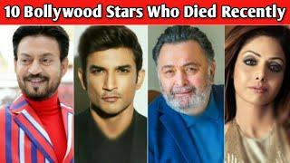 10 Famous Bollywood Actors Who Died Recently | Sushant Singh Rajput | Indian Celebrities Died 2020