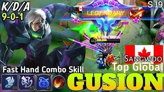 Fast Hand Gusion | Top Global Gusion Best Build 2021Gameplay S19 by Sangwoo | Mobile legends