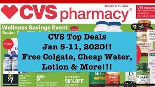Free Colgate, Cheap Water & More! CVS Extreme Couponing Top Deals Jan 5-Jan 11, 2020!