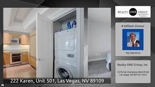 222 Karen, Unit 501, Las Vegas, NV 89109