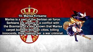 TOP 10 TOUHOU GIRLS WHO ARE WAR CRIMINALS