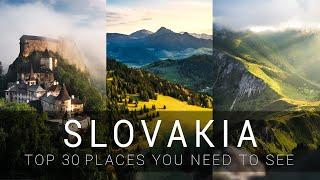 SLOVAKIA TOP 30 places | cinematic video