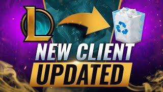 HUGE UPDATE: NEW LEAGUE CLIENT CHANGES + PERMANENTLY Deleting Boards - League of Legends Season 10