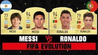 MESSI VS RONALDO FIFA EVOLUTION
