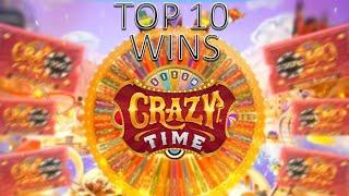 TOP 10 BIGGEST WINS ON CRAZY TIME !!!