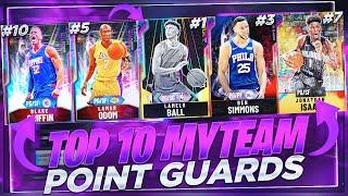 THE TOP 10 BEST POINT GUARDS IN NBA 2K20 MYTEAM!! WHICH PGS ARE WORTH PICKING UP?!?!?