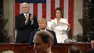 Watch: Nancy Pelosi apparently rips up President Trump's State of the Union speech