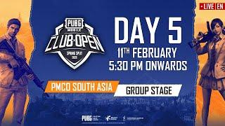 [EN] PMCO South Asia Group Stage Day 5 | Spring Split | PUBG MOBILE CLUB OPEN 2020