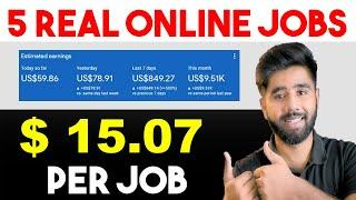 Top 5 Online Jobs From Home | Online Jobs for Students | Earn Money From Home | Part Time Jobs 2021