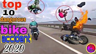 Top 10 most dangerous and crashes bike accident 2020 !!