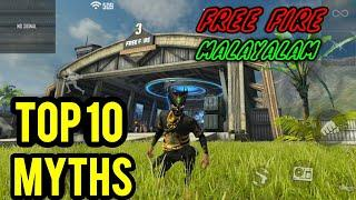 FREE FIRE TOP 10 MYTH BUSTERS  മലയാളം TOP 10 MYTHBUSTERS IN FREE FIRE battleground  FREEFIRE MYTH #5