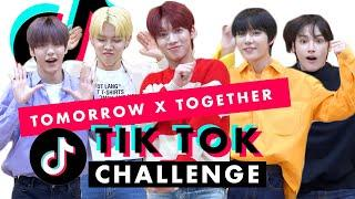 Are TOMORROW x TOGETHER the Best TikTok Dancers?! | TikTok Challenge Challenge | Cosmopolitan
