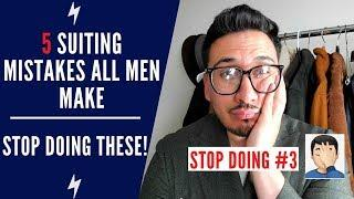 5 Beginner Suiting Mistakes | Stop Doing These In A Suit | Two Minute Tuesdays