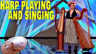 HARP PLAYING SINGER Turn Heads With Incredible Performance - Got Talent Espana