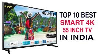 Top 10 Best 55 Inch Smart QLED TV in India with Price 2020 | Best Smart TV Brands LG, Samsung, Sony