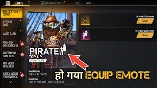 Free Fire New Top-up Event Emote Not Equip Problem Solve - FF New Events Details - CG New FF