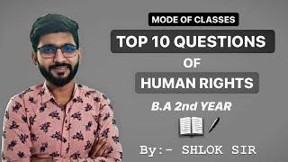 Top 10 Question Of Human Rights By - Shlok Sir   #humanrights, #top10questions