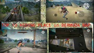 Top 10 hiding place||freefire ||rank push||new season||Bermuda map||watch full video