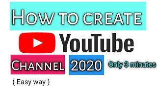 How to create youtube channel |create youtube channel in 3 minutes | create youtube channel 2020