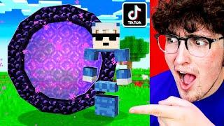 I Tested 5 INSANE TIKTOK Minecraft Hacks That You'll NEVER BELIEVE WORK!