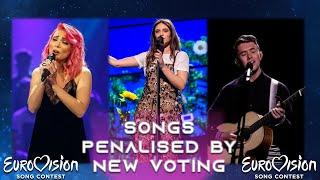 Top 30 Songs Penalised By The New Voting System | Eurovision Song Contest [2016-2021]