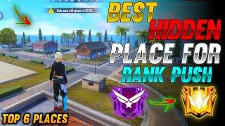 TOP 6 NEW HIDDEN PLACE IN FREE FIRE IN BERMUDA 2021 | RANK PUSH TIPS AND TRICKS IN FREE FIRE 2021
