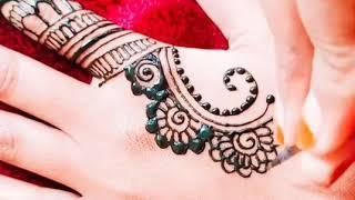 Beautiful back hand mehndi design   latest mehndi design   lady eyes