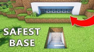 The Most SAFEST Secret Underground Base with Best DEFENSE System in Minecraft