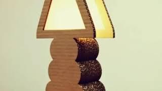 10+ TOP idea KREASI UNIK LAMPU KARDUS   HACK A Desk Lamp from Cardboard