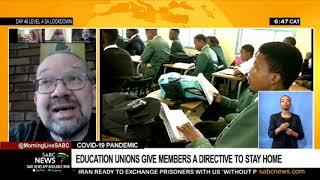 Education unions give members a directive to stay home