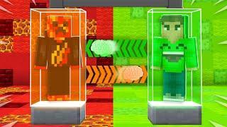 I Transformed into JELLY! (Minecraft Brain Swap)